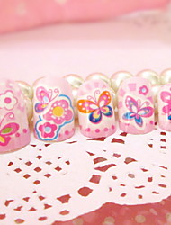 produto prego local desenhos animados linda borboleta falso pregos adesivo de unha 24 peças com cola
