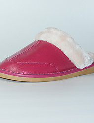 M.livelihood.H Women's Slippers & Flip-Flops Winter Slingback Cowhide Casual Flat Heel Others Fuchsia Others-TY201610