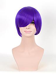 las mujeres calientes de la venta lindo peinado pelucas cortas sintéticas pelucas púrpuras rectas