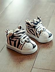 Jungen-Sneaker-Lässig-VliesKomfort-Beige Grau Gelb