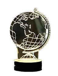 3D Globe Stereo Table Lamp New Peculiar Acrylic LED Lamp