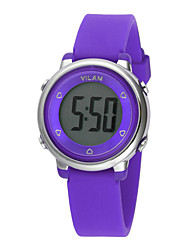 Vilam Kids' Sport Watch Quartz Large Dial Silicone Band World Map Multi-Colored White Orange Purple Yellow Green