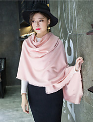 Women Polyester Scarf,Casual Rectangle