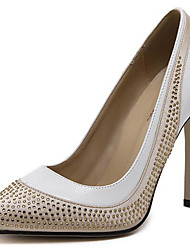Women's Heels Spring / Summer / Fall / Winter Heels Glitter Party & Evening / Casual Stiletto Heel Rivet White