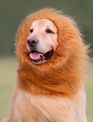 Cat / Dog Costume / Wig Black / White / Brown Dog Clothes Summer / Spring/Fall Animal Cosplay / Lion Mane