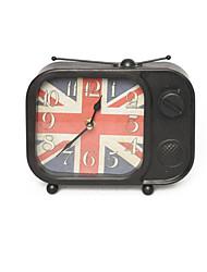Silent Tin Square Clock