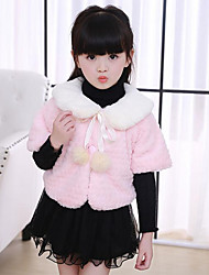 Girl's Casual/Daily Solid Suit & BlazerCotton Winter / Fall Pink / White