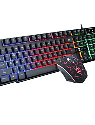 Mechanical Keyboard Light Usb Cable Suspension Computer Keyboard Mouse Keyboard Suits