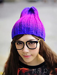 Unisex Gradient Color Knitting Wool Curling Winter Warm Hat