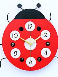 Moderne/Contemporain Niches Horloge murale,Autres Métal / Bois 33*32cm Intérieur Horloge