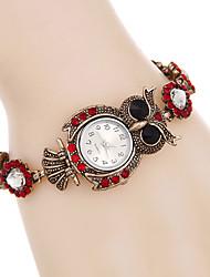 Женские Модные часы Наручные часы Часы-браслет Имитационная Четырехугольник Часы / Панк Цветной Имитация Алмазный Кварцевый сплав Группа