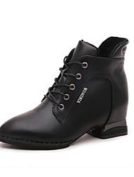 Mujer-Tacón Bajo-Confort-Botas-Vestido / Casual-PU-Negro / Amarillo