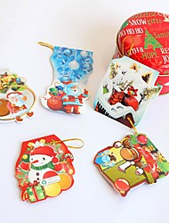 10Pcs/Lot Mini Kawaii Christmas Greeting Card With Paper Envelope For Birthday Christmas Gifts Invitation Cards Decoration Color Random