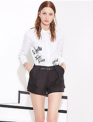 Dámské Jednoduché Šortky Bavlna / Polyester Lehce elastické Kalhoty