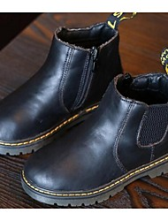 Girl's Boots Comfort Cowhide Casual Black / Brown
