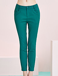 Pantalon Aux femmes Slim / Short simple Coton / Nylon / Spandex Micro-élastique