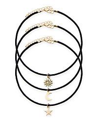 3pcs/set Women's Fashion Luxury European Punk Style Vintage Choker Necklace for Women