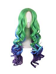 Ombre Wig Pelucas Pelo Natural Sinteticas Perucas Halloween Long Perruque