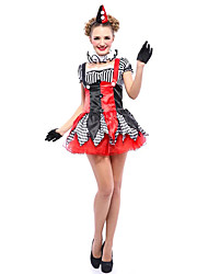 Female Circus Clown Suit Halloween Festival Role Play Under