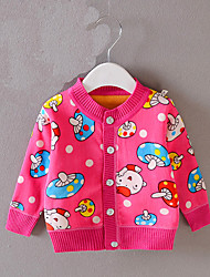Children' s Casual/Daily Print Down & Cotton PaddedCotton Winter Blue / Pink / Red