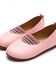 Girl's Flats Comfort PU Casual Yellow Pink Red