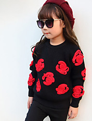 Girl's Casual/Daily Solid Sweater & CardiganWool / Cotton Fall Black / Red