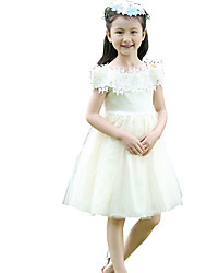 Girl's Casual/Daily Solid DressOthers Blue / Pink / White