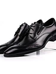 Для мужчин Туфли на шнуровке Удобная обувь Кожа Свадьба Для офиса Черный Кофейный Менее 2,5 см
