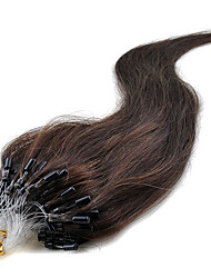 Free Shipping High Quality 16-24Inch Brazilian Remy Hair Micro Ring Hair Extensions Natural Silky Straight 100s 40g-50g per lot