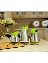 3pcs/set Kitchen Stainless Steel Plastic Shaker & Mill