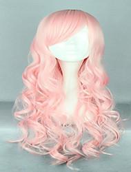Harajuku стиль 70см долго термостойкий фигурная лолита розовый парик косплей