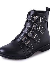 Women's Boots Spring / Fall / Winter Fashion Boots Leatherette Dress / Casual Low Heel Rivet / Buckle Black Others