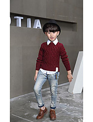 Boy's Casual/Daily Solid Sweater & CardiganWool Winter / Spring / Fall Red
