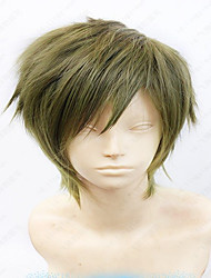 35cm Cospaly Wig Anime Makoto Tachibana Short Linen Gray Green Layered Costume Wig