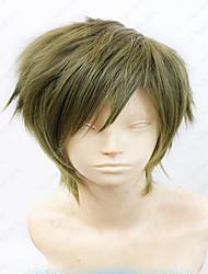 35 centímetros cospaly peruca anime Makoto Tachibana roupa short cinza peruca traje em camadas verde