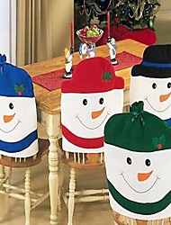 4pcs Fashion Santa Clause Cap Red Hat Furniture Chair Back Cover Christmas Dinner Table Party Xmas