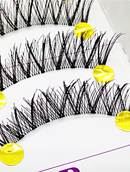 Eyelashes lash Full Strip Lashes Eyes Crisscross / The End Is Longer Lifted lashes Handmade Fiber Transparent Band 0.10mm 12mm
