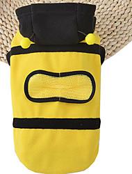 Cães Fantasias Camisola com Capuz Amarelo Roupas para Cães Verão Primavera/Outono Animal Fofo Fantasias