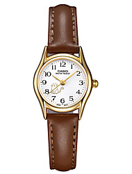 Mulheres Relógio de Moda Impermeável Quartzo Couro Banda Casual Luxuoso Marrom