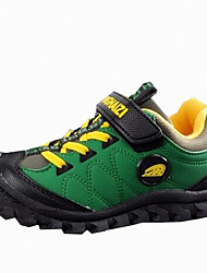 Boy's Sneakers Spring / Fall Others PU Outdoor Flat Heel Others / Hook & Loop Green Others
