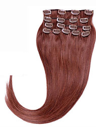 tête pleine # 33 brazilian pince à cheveux humains dans les extensions 70g 80g clip dans les extensions de cheveux humains indiens soyeux