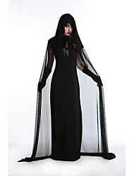 Cosplay Kostuums Tovenaar/Heks / Skelet/Schedel / Vampieren Film Cosplay Zwart Effen Kleding / Shawl / Handschoenen Halloween / Carnaval