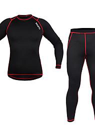 Sous-Maillot de Cyclisme Homme Manches longues Vélo Vêtements de Compression/Sous maillot Ensemble de VêtementsGarder au chaud Pare-vent