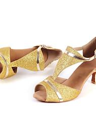 Customizable Women's Dance Shoes Sparkling Glitter Sparkling Glitter Latin / Jazz / Modern / Salsa Sandals Low HeelPractice / Beginner /