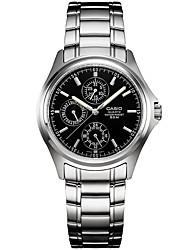 Homens Relógio Elegante Relógio de Moda Quartzo / Aço Inoxidável Banda Casual Preta