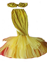 Costumes Mermaid Tail Halloween / Christmas / Carnival / Children's Day Red / Green / Yellow / Sky Blue Vintage Dress