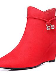 Damen-High Heels-Büro / Kleid / Party & Festivität-KunstlederKomfort-Schwarz / Rot