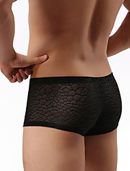 Men Solid Shaping Panties Boxer Briefs,Nylon