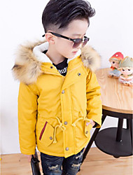 Boy's Casual/Daily Solid Suit & BlazerCotton Winter Green / Yellow