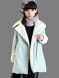 Girl's Casual/Daily Solid BlouseCotton Winter Blue / Gray